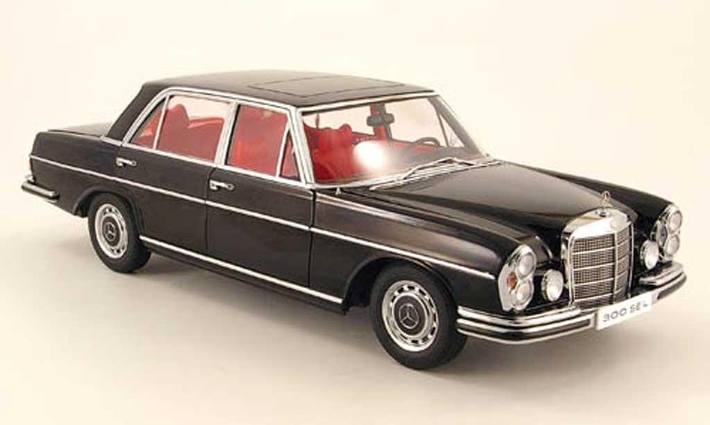 Mercedes 300 Sel Miniature 6 3 Noire 1970 Autoart 1 18 Voiture Miniature Com
