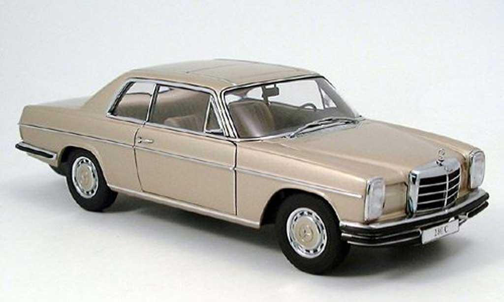 Mercedes 280 1972 1/18 Autoart c (w115) strichachter beige modellautos