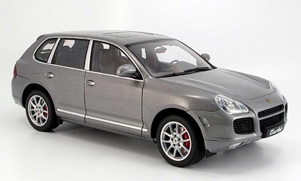 porsche cayenne turbo grau autoart modellauto 1 18. Black Bedroom Furniture Sets. Home Design Ideas
