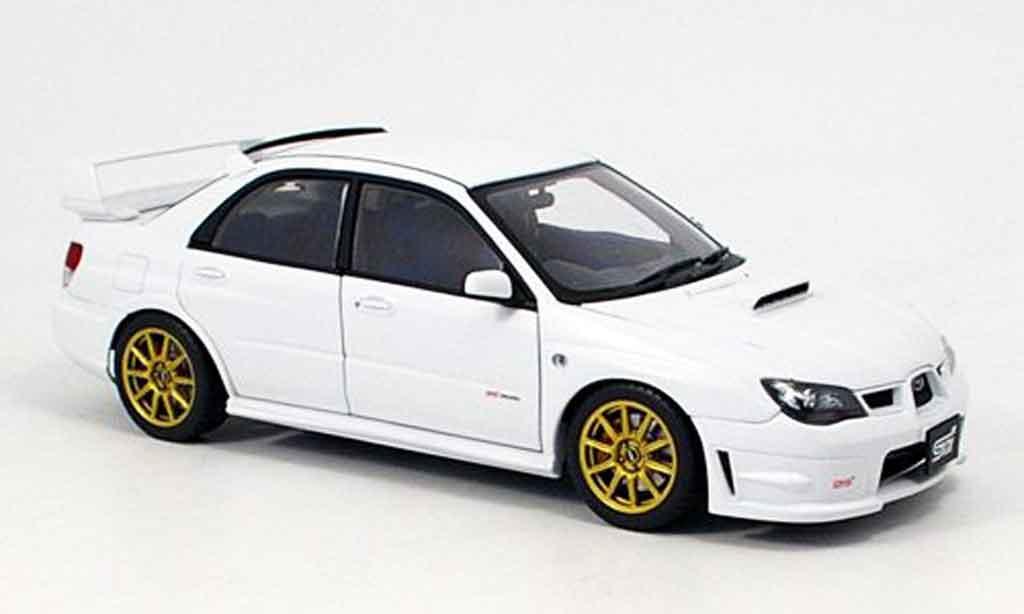 Subaru Impreza WRX 1/18 Autoart STI blanche 2006 miniature