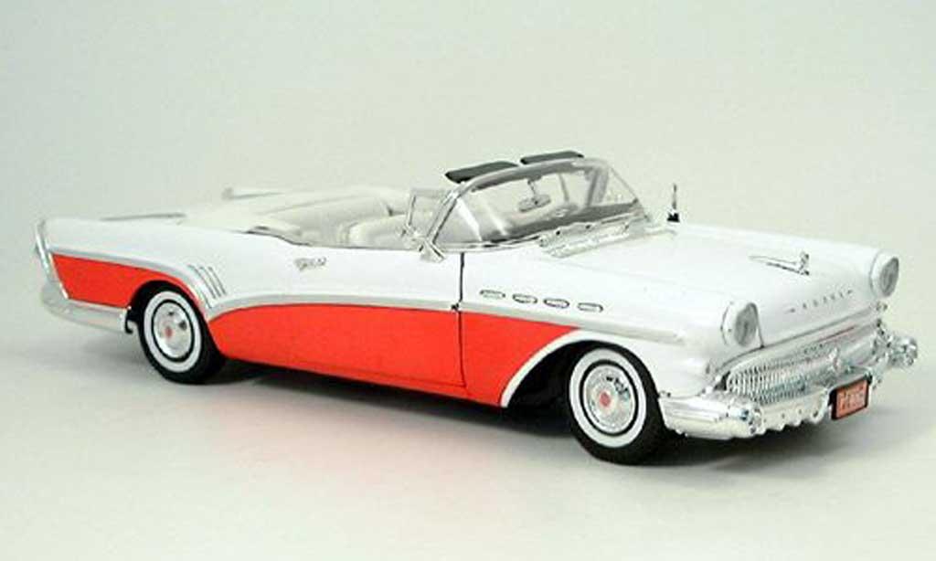 Buick Roadmaster 1/18 Motormax rouge-blanche 1957 miniature