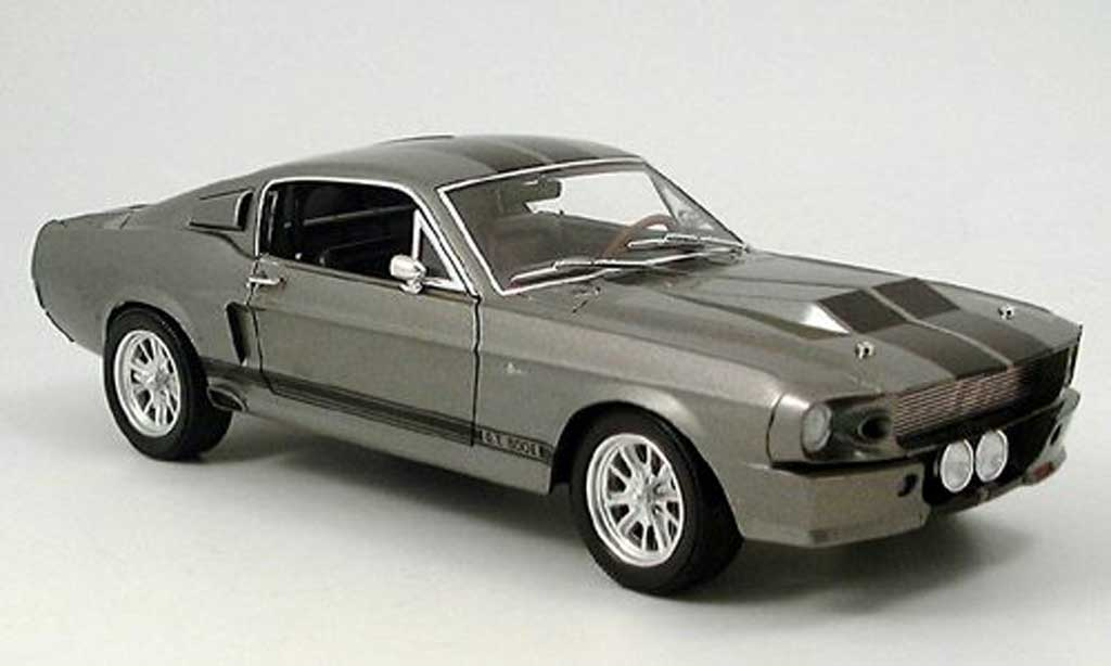 Shelby GT 500 1/18 Shelby Collectibles eleanor grise/noire 1967 miniature