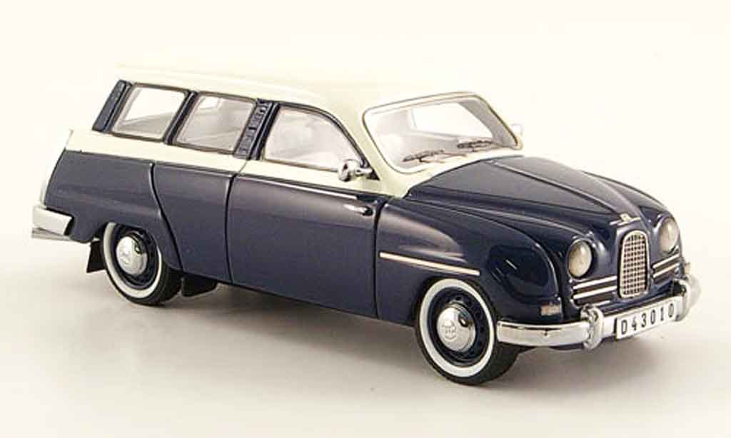 Saab 95 1/43 Neo bleu blanche 14 miniature