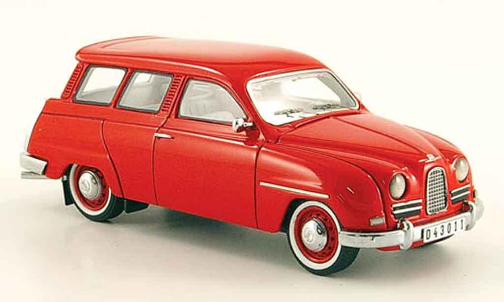 Saab 95 1/43 Neo rouge 14 miniature