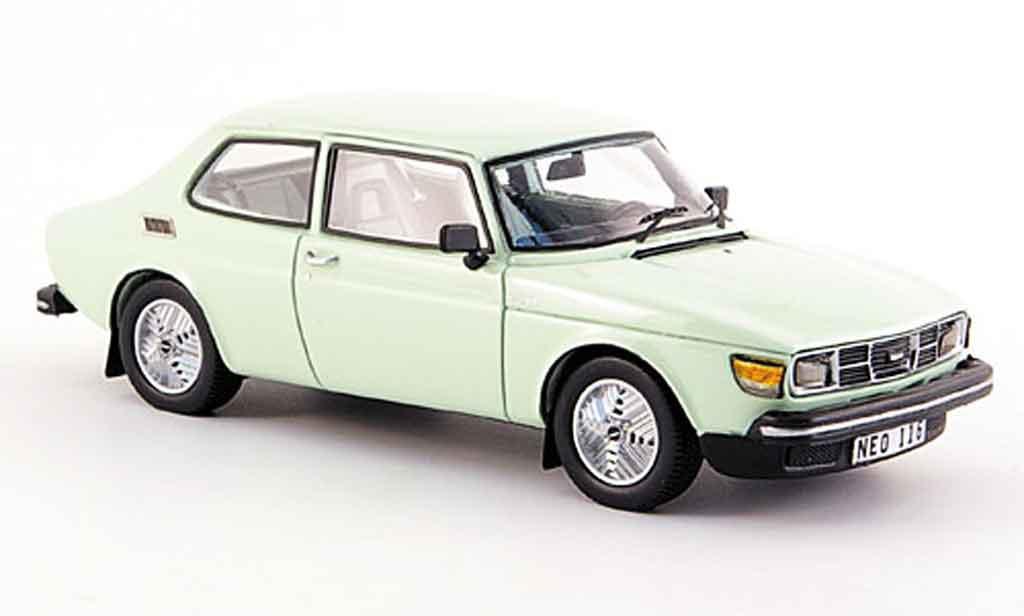 Saab 99 Turbo 1/43 Neo pistazie miniature