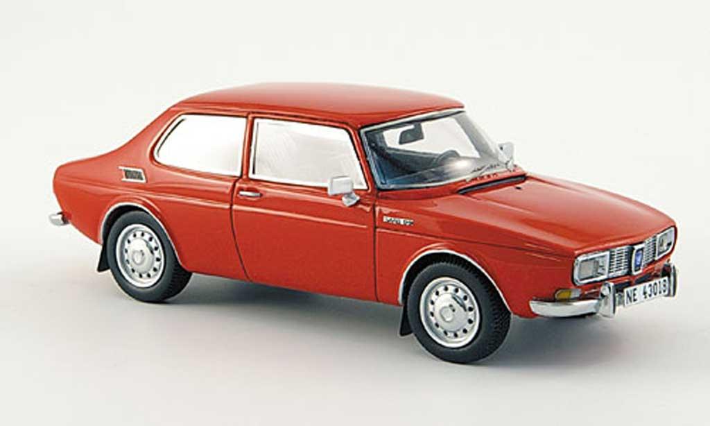 Saab 99 1/43 Neo Saloon rouge miniature