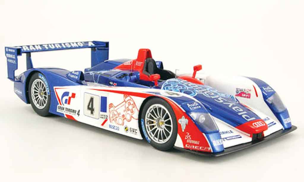 Audi R8 Le Mans no.4 team oreca playstation 2005 Spark. Audi R8 Le Mans no.4 team oreca playstation 2005 miniature 1/18
