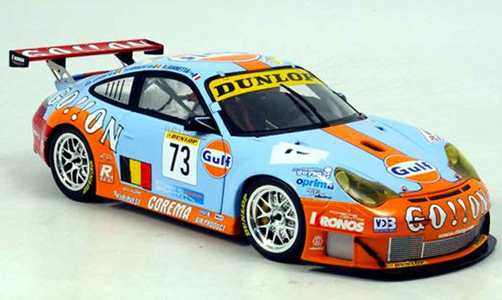Porsche 996 GT3 RSR 1/18 Minichamps ice pol racing team miniature