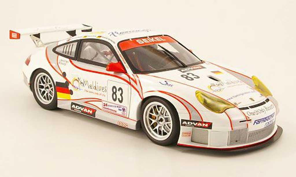 Porsche 996 GT3 RSR 1/18 Minichamps no.83 maldives 24h le mans 2006 miniature