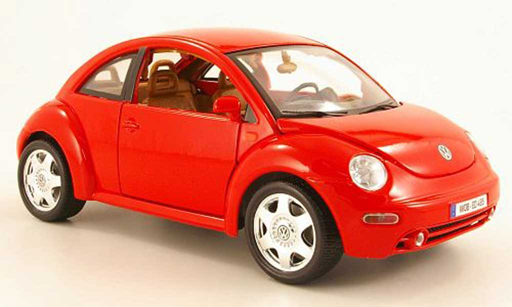 Volkswagen New Beetle 1/18 Burago red 1998 diecast model cars