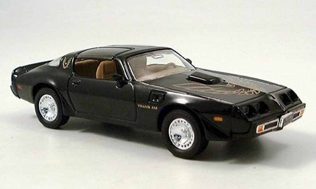 Pontiac Firebird 1979 1/43 Yat Ming Firebird Trans Am noire miniature
