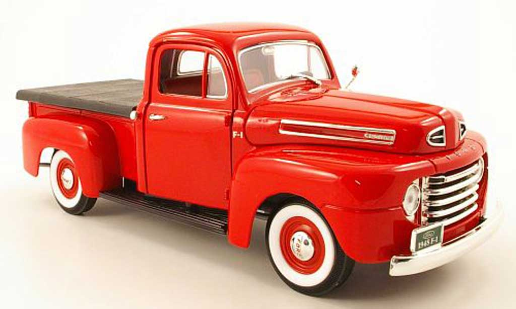 Ford F-1 1/18 Yat Ming pick up rouge 1948 miniature