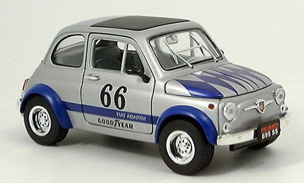Fiat 695 1/18 Yat Ming Abarth SS grise-bleue 1963 miniature