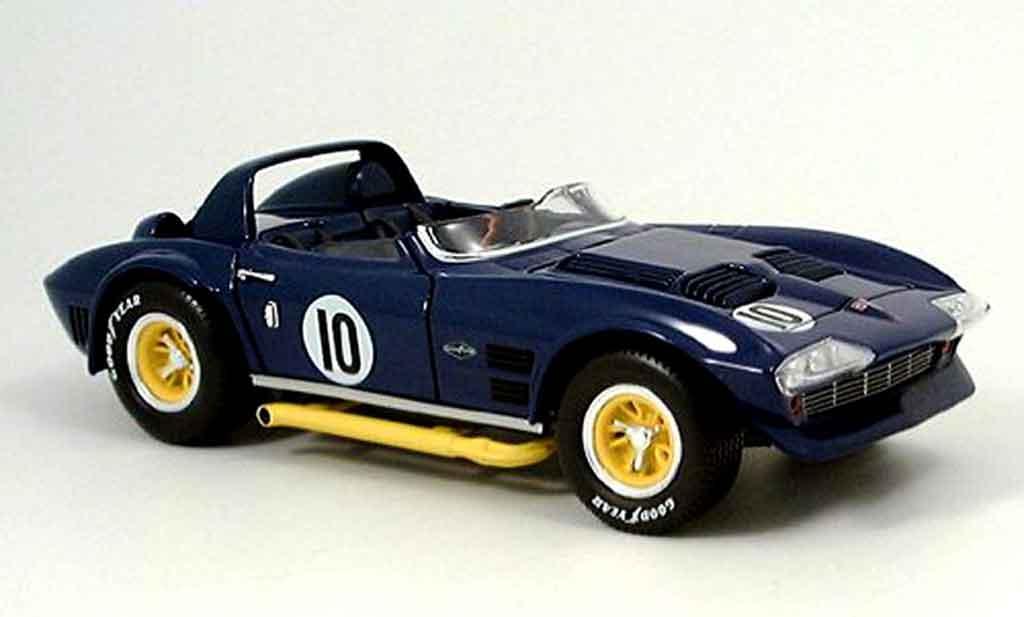 Miniature Chevrolet Corvette Grand Sport grand sport bleu 1964 Yat Ming. Chevrolet Corvette Grand Sport grand sport bleu 1964 miniature 1/18