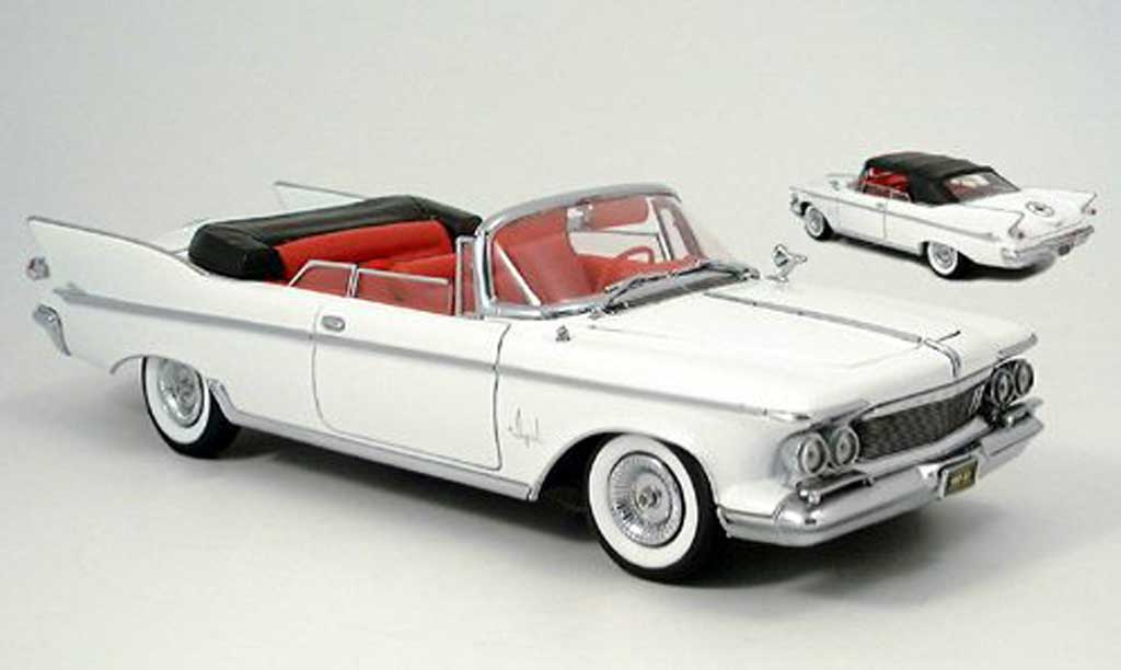 Chrysler Imperial 1/18 Yat Ming crown convertible blanche 1961 miniature