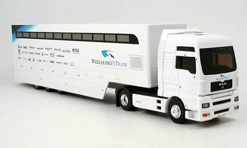 Bmw F1 2006 1/43 Eligor MAN TG XXL Renntransporter Williams F1  miniature