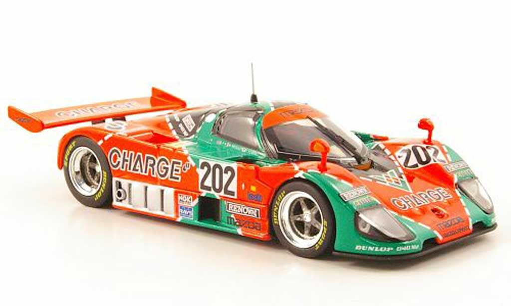 Mazda 767B 1/43 Q Model No.202 Charge 24h Le Mans 1989 miniature