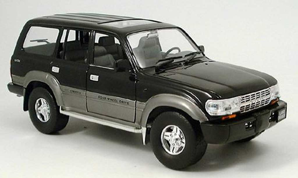 Toyota Land Cruiser 1/18 Yat Ming noire 1992 miniature