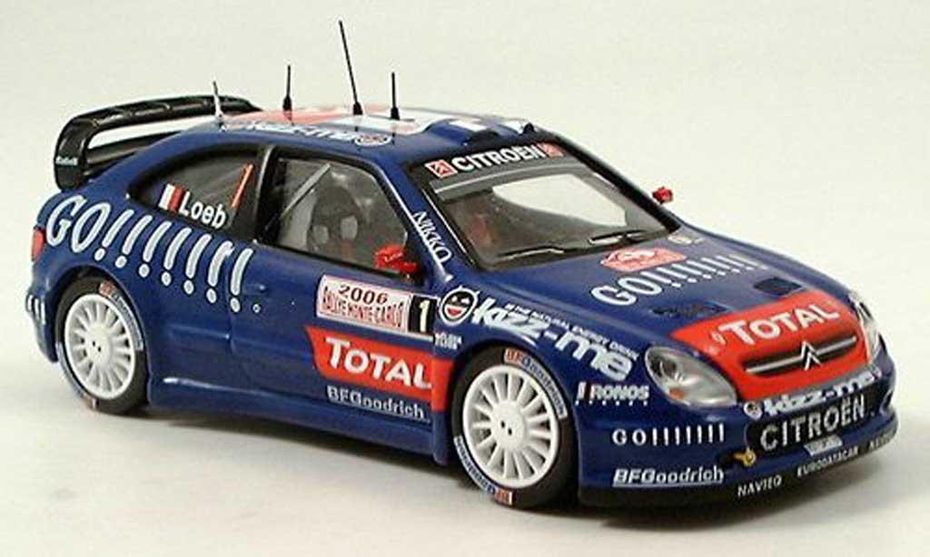 Citroen Xsara WRC 2006 1/43 IXO No.1 Loeb miniature