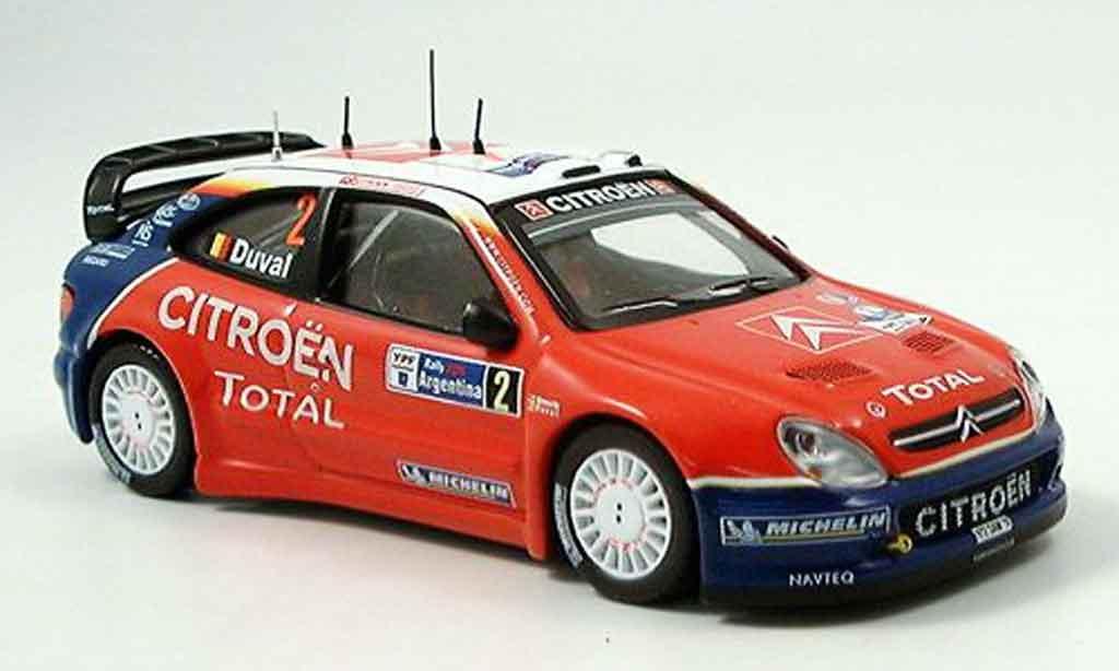 Citroen Xsara WRC 2005 1/43 IXO no.2 duval rallye argentine miniature
