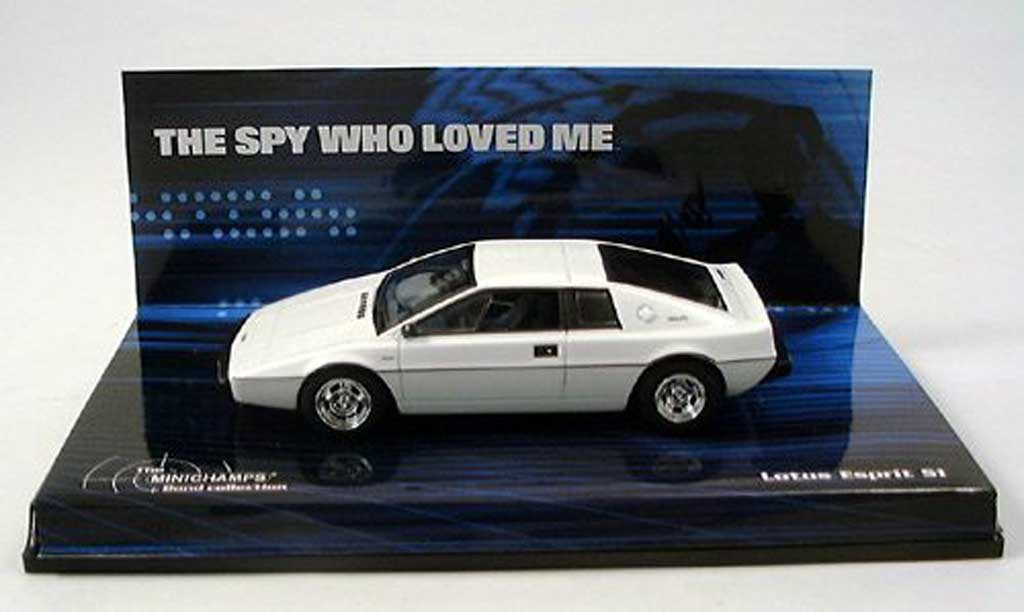 Lotus Esprit James Bond The Spy wo loved me Minichamps. Lotus Esprit James Bond The Spy wo loved me James Bond miniature 1/43