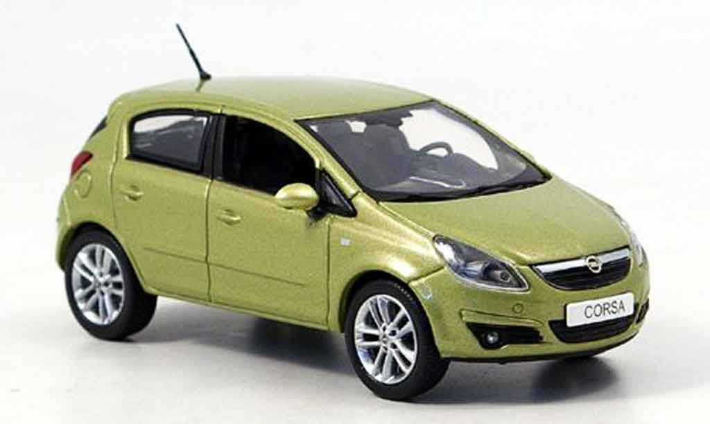 opel corsa miniature verte 5 turer 2006 norev 1 43 voiture. Black Bedroom Furniture Sets. Home Design Ideas