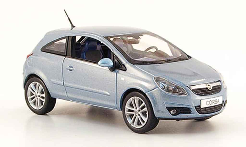 Opel Corsa 1/43 Norev grise metalliseebleu 3 turer 2006 miniature
