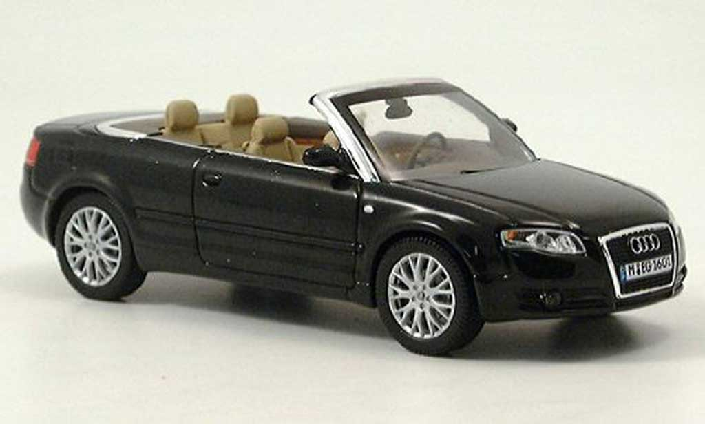 audi a4 cabriolet miniature noire norev 1 43 voiture. Black Bedroom Furniture Sets. Home Design Ideas