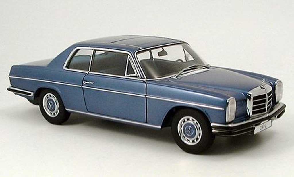 Mercedes 280 1968 1/18 Autoart c strichachter coupe bleu modellautos