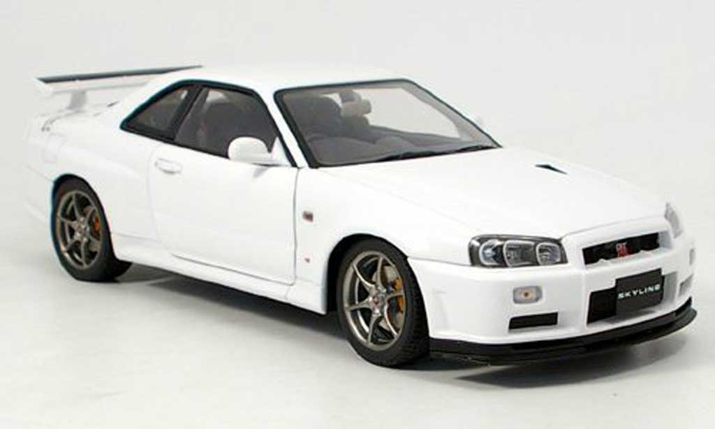 nissan skyline r34 miniature gt r v spec ii blanche. Black Bedroom Furniture Sets. Home Design Ideas