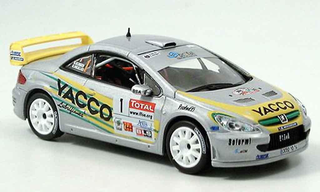 Peugeot 307 WRC 1/43 Norev no.1 yacco vouilloz kunger miniature