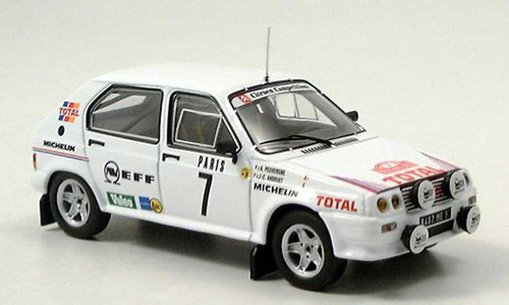 Citroen Visa 1/43 IXO 1000 No.7 Rallye Monte Carlo 1985 Andruet/Peuvergne miniature