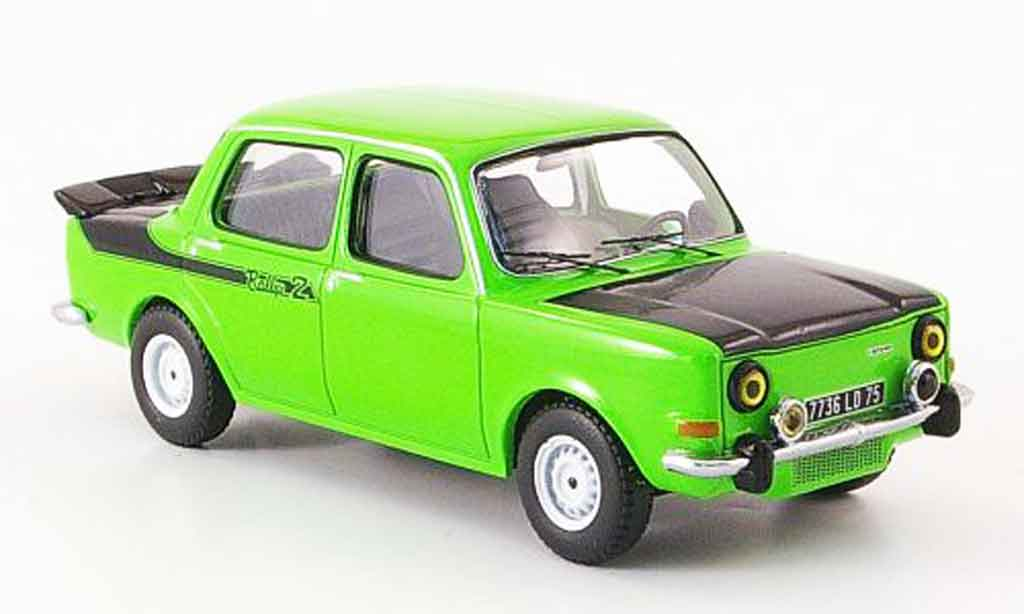 simca 1000 miniature rallye 2 verte noire 1977 ixo 1 43 voiture. Black Bedroom Furniture Sets. Home Design Ideas
