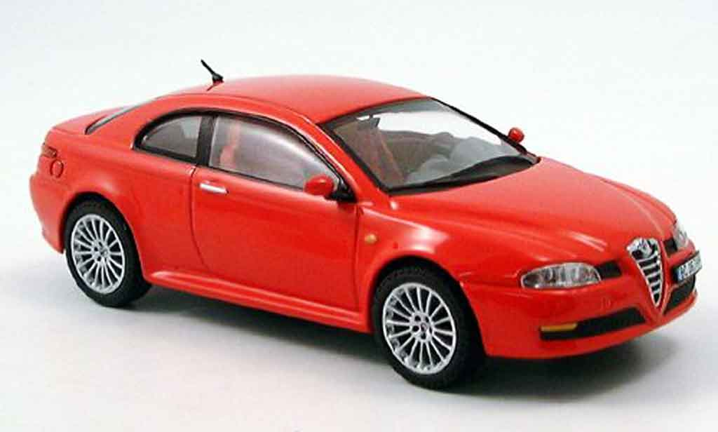 alfa romeo gt v6 miniature 3 2 rouge 2004 ixo 1 43 voiture. Black Bedroom Furniture Sets. Home Design Ideas