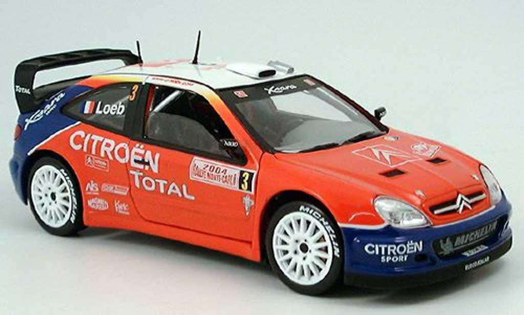 Citroen Xsara WRC 2004 1/18 Solido no3 total rallye monte carlo 2004 sebastien loeb miniature