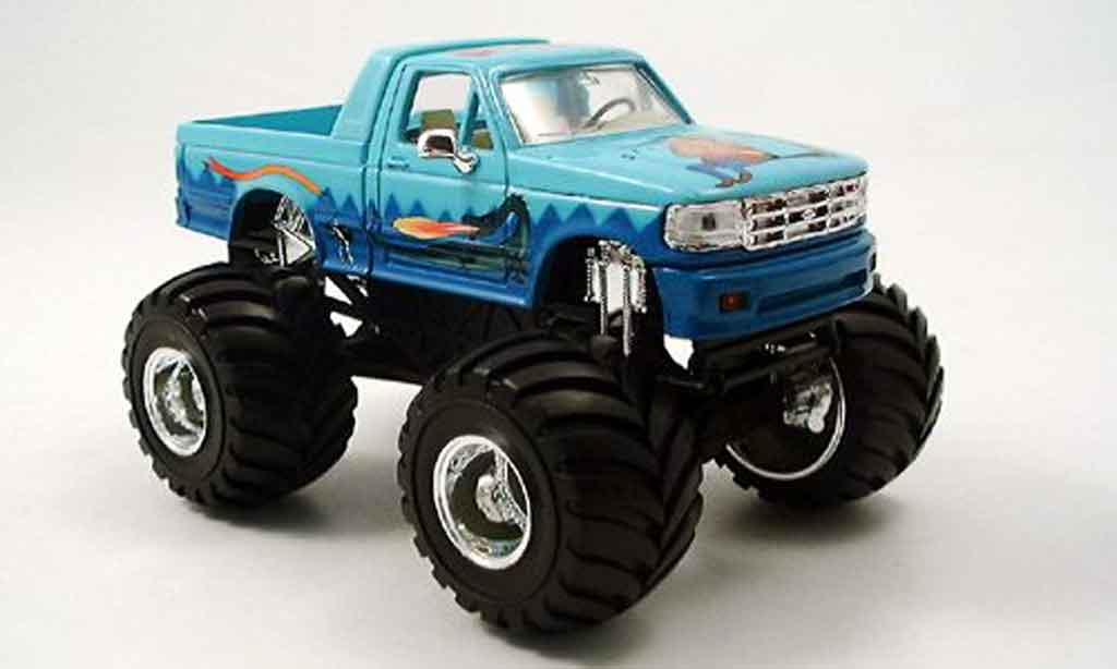 Ford F-150 1/43 Yat Ming F 150 Monster Truck bleu 1995 miniature