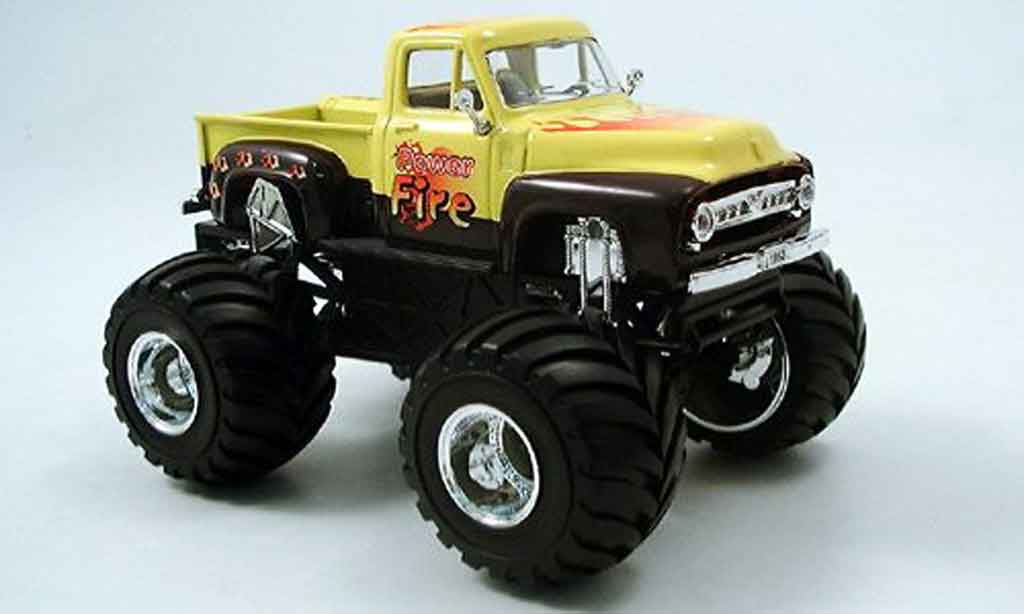 Ford F100 1/43 Yat Ming Monster Truck jaune noire 1953 miniature
