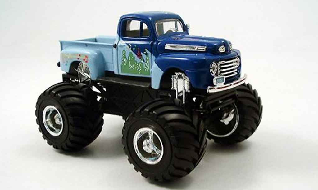 Ford F100 1/43 Yat Ming Monster Truck bleu 1948 miniature