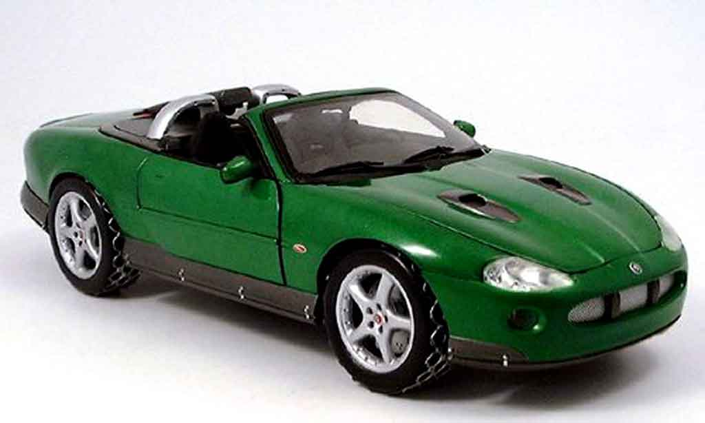 Jaguar XKR 1/18 Ertl roadster james bond collection grun miniature