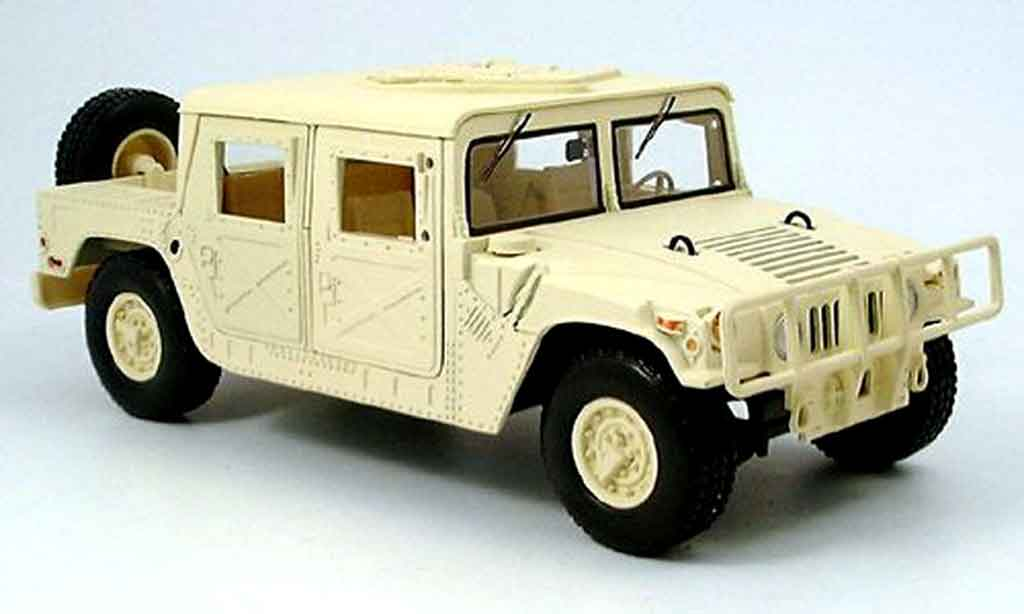 Hummer Humvee 1/18 Motormax pick up beige miniature