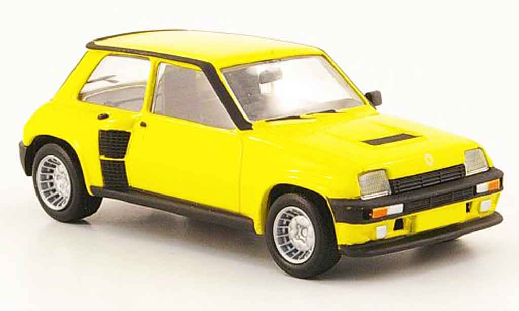 renault 5 turbo miniature jaune del prado 1 43 voiture. Black Bedroom Furniture Sets. Home Design Ideas
