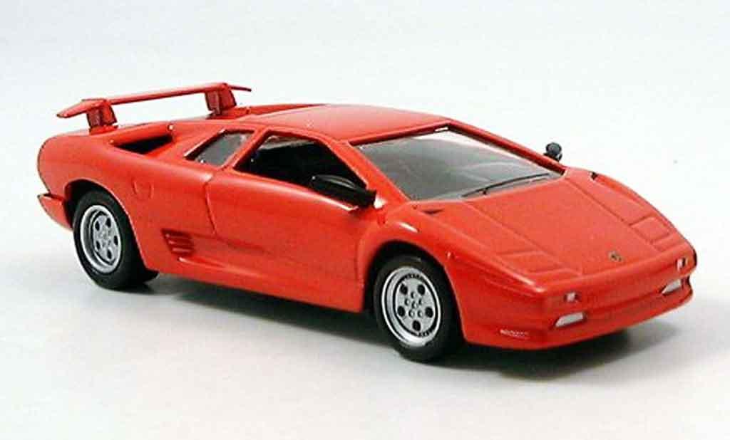 Lamborghini Diablo rosso Del Prado. Lamborghini Diablo rosso modellini 1/43