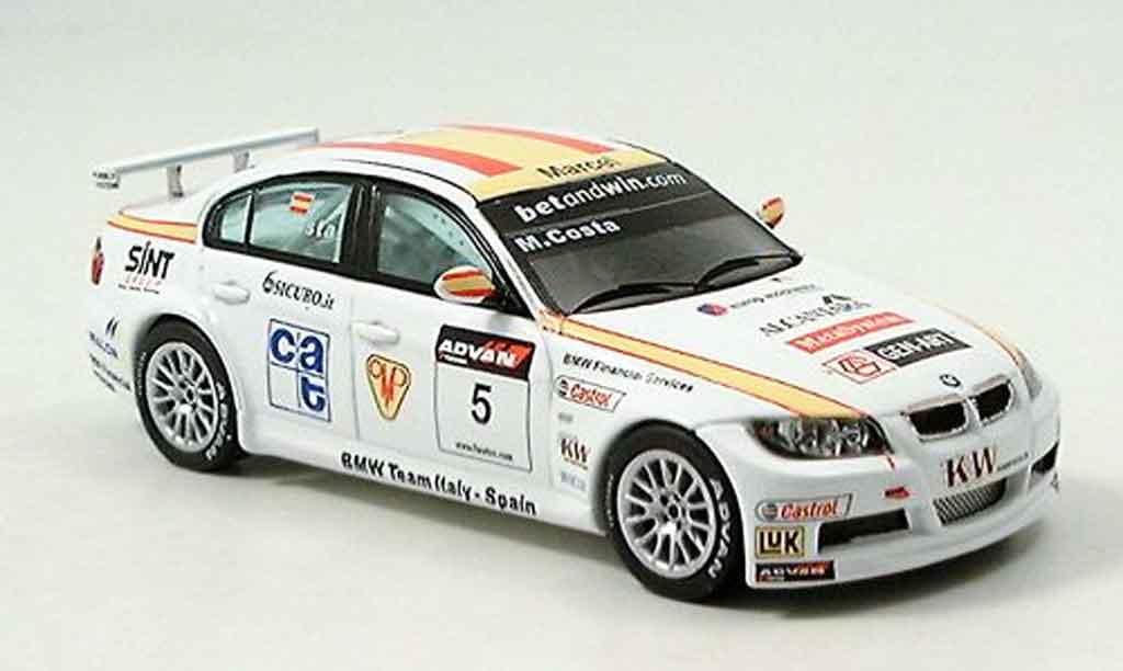 Bmw 320 E90 1/43 Spark si 3er No.5 Costa WTCC 2006 diecast model cars