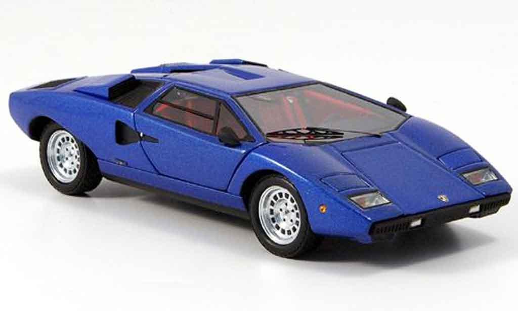 Lamborghini Countach LP 400 1/43 Kyosho bleu diecast model cars