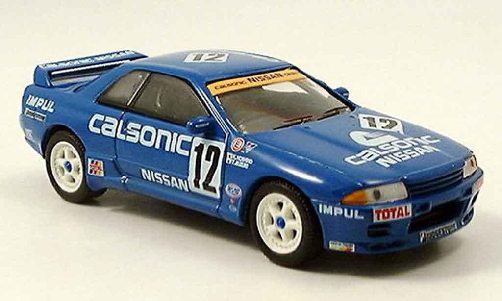 Nissan Skyline R32 1/43 Del Prado GT R No.12 bleu miniature
