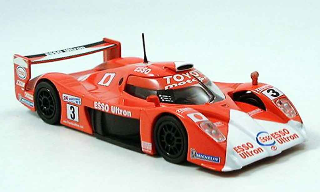 Toyota GT One 1/43 Del Prado no.3 rouge miniature