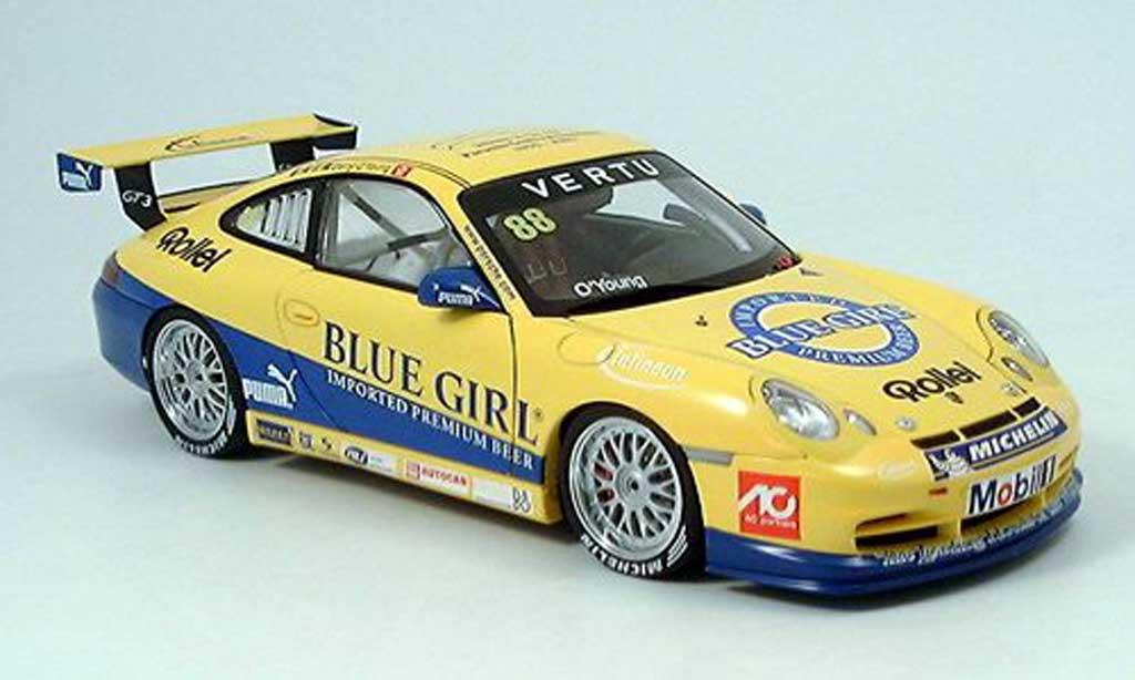 Porsche 997 GT3 CUP 1/18 Autoart GT3 Cup 2005 no.88 o young sieger macau miniature