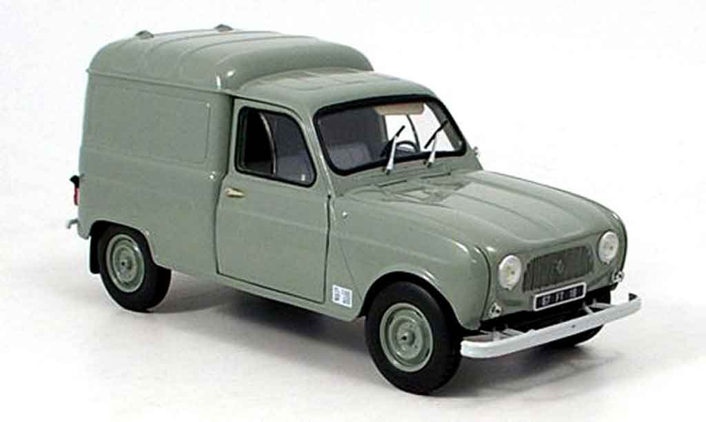 renault 4 f4 miniature grise 1965 norev 1 18 voiture. Black Bedroom Furniture Sets. Home Design Ideas