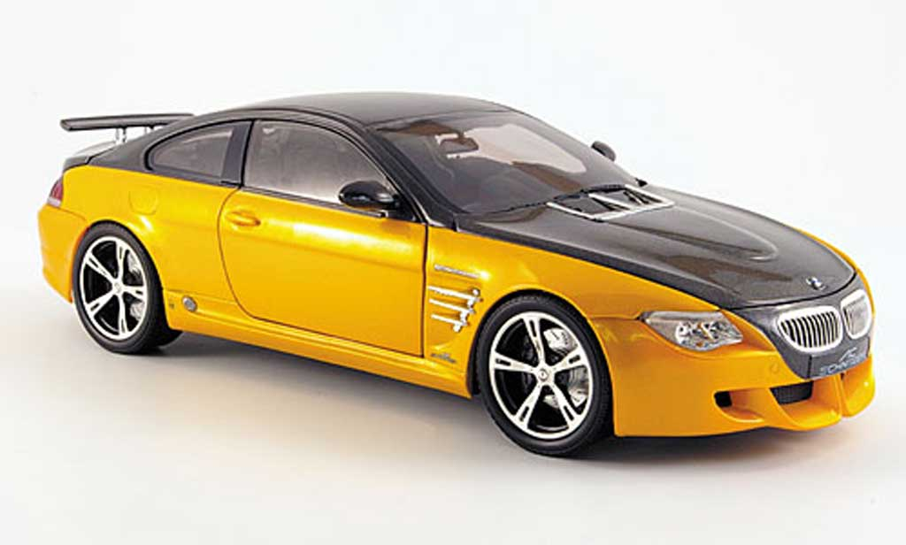 Bmw M6 E63 1/18 Norev ac schnitzer tension m6 yellow/ diecast model cars