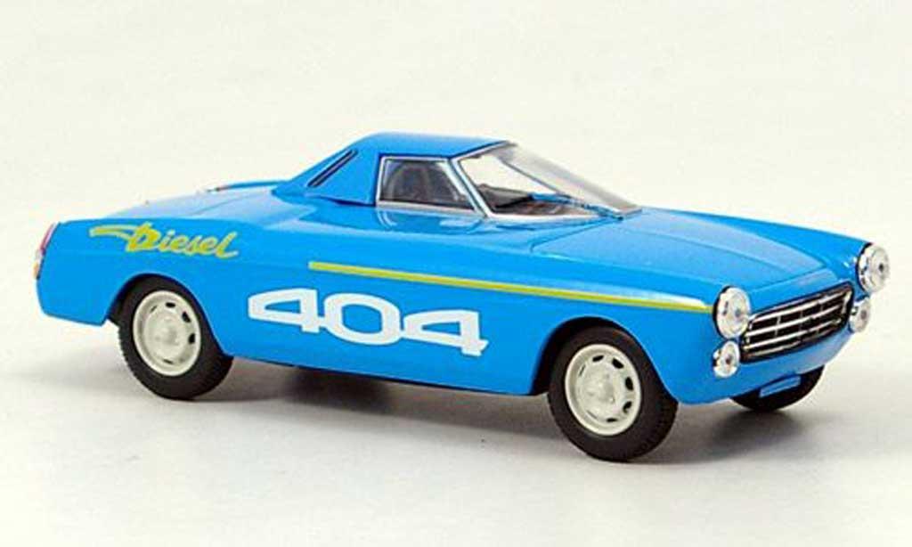 Peugeot 404 Diesel 1/43 Norev Rekord bleu 1965 miniature